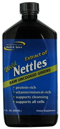 DROPPED: North American Herb & Spice - Extract Of Wild Nettles Raw Uncooked Greens - 12 oz. CLEARANCE PRICED
