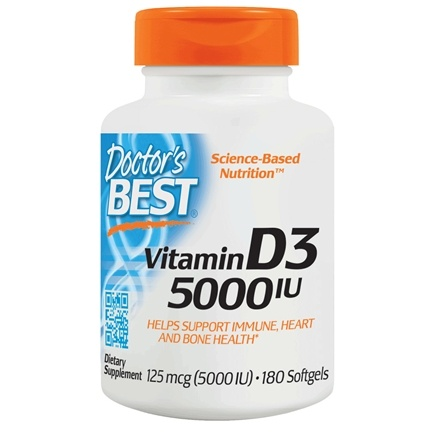 Doctor's Best - Best Vitamin D3 5000 IU - 180 Softgels