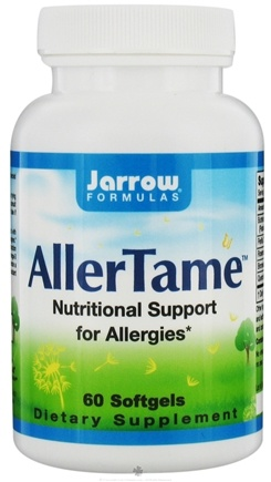 DROPPED: Jarrow Formulas - AllerTame Nutritional Support For Allergies - 60 Softgels