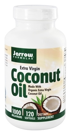 Jarrow Formulas - Coconut Oil 100% Certified Organic Extra Virgin 1000 mg. - 120 Softgels