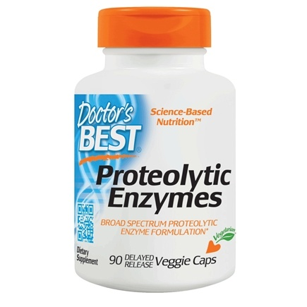 Doctor's Best - Best Proteolytic Enzymes - 90 Vegetarian Capsules LUCKY PRICE