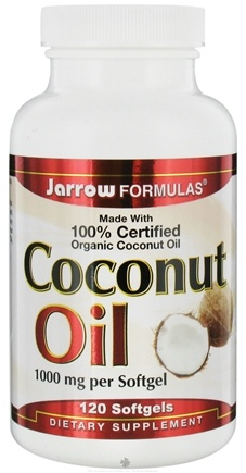 DROPPED: Jarrow Formulas - Coconut Oil 100% Certified Organic 1000 mg. - 120 Softgels