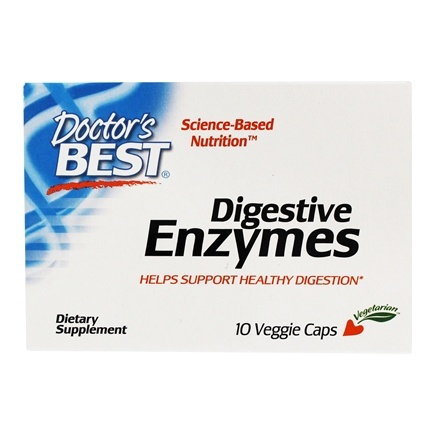 DROPPED: Doctor's Best - Best Digestive Enzymes All Vegetarian - 10 Vegetarian Capsules CLEARANCE PRICED