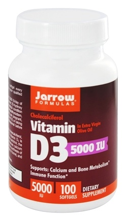 Jarrow Formulas - Cholecalciferol Vitamin D3 5000 IU - 100 Softgels