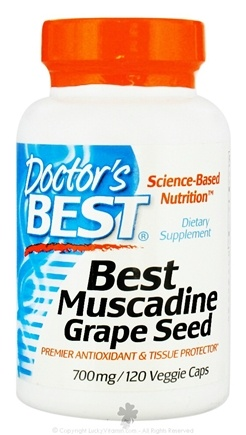 DROPPED: Doctor's Best - Best Muscadine Grape Seed 700 mg. - 120 Vegetarian Capsules CLEARANCE PRICED