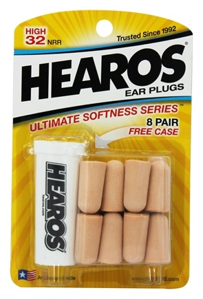 Hearos - Ear Plugs Ultimate Softness Series 8 Pairs
