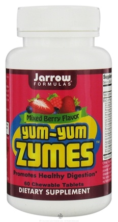 DROPPED: Jarrow Formulas - Yum-Yum Zymes Promotes Healthy Digestion Mixed Berry Flavor - 60 Chewable Tablets