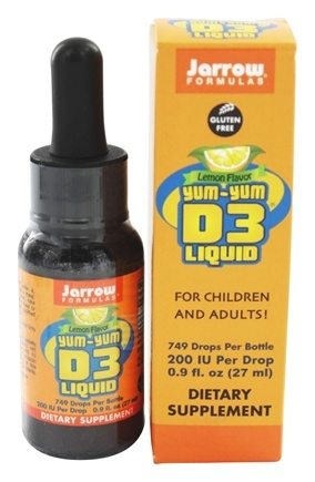 Jarrow Formulas - Yum-Yum D3 Liquid Lemon Flavor 200 IU - 0.9 oz.