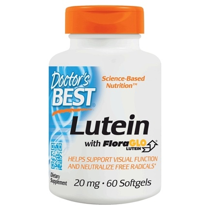Doctor's Best - Best Free Lutein featuring FloraGLO 20 mg. - 60 Softgels Formerly FloraGlo Free Lutein with Zeaxanthin