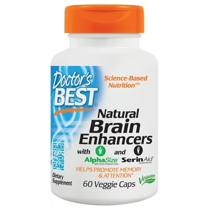 Doctor's Best - Natural Brain Enhancers with Alpha Size and Serin Aid - 60 Vegetarian Capsules