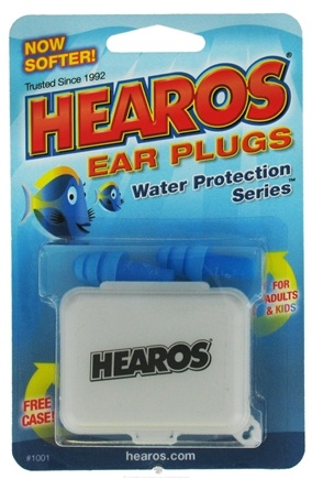 DROPPED: Hearos - Ear Plugs Reusable Water Protection Series - 1 Pair CLEARANCE PRICED