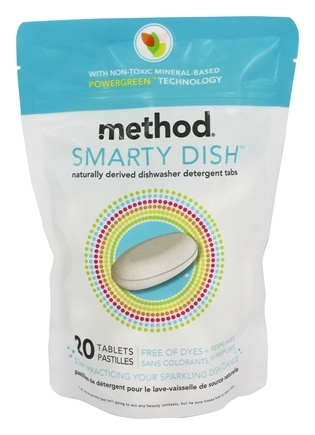 Method - Smarty Dish Dishwasher Detergent Tabs Non-Toxic - 20 Tablets