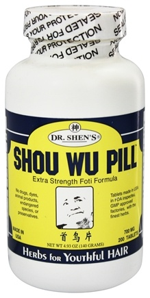 DROPPED: Dr. Shen's - Shou Wu Pill Youthful Hair - 200 Tablets