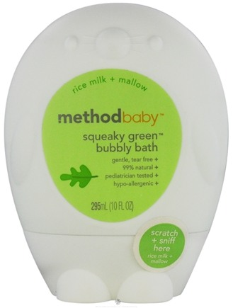 DROPPED: Method - Squeaky Green Baby Bubbly Bath Rice Milk + Mallow - 10 oz. CLEARANCE PRICED
