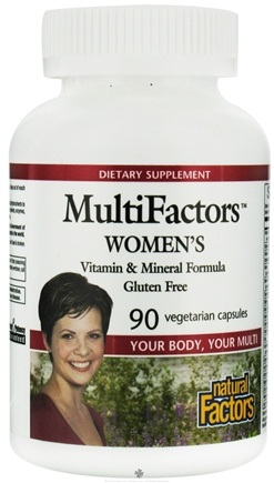 DROPPED: Natural Factors - MultiFactors Women's - 90 Vegetarian Capsules CLEARANCE PRICED