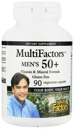 DROPPED: Natural Factors - MultiFactors Men's 50+ - 90 Vegetarian Capsules