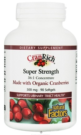 DROPPED: Natural Factors - CranRich Super Strength 500 mg. - 90 Softgels CLEARANCE PRICED