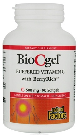 DROPPED: Natural Factors - BioCgel Buffered Vitamin C 500 mg. - 90 Softgels