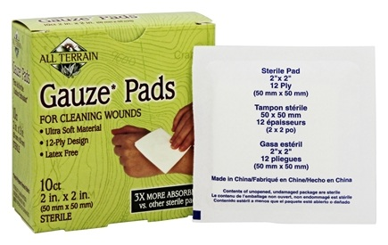 DROPPED: All Terrain - Gauze Pads 2in. x 2in. - 10 Count CLEARANCE PRICED