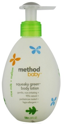 DROPPED: Method - Squeaky Green Baby Body Lotion Rice Milk + Mallow - 8 oz. CLEARANCE PRICED