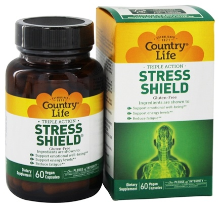 Country Life - Stress Shield - 60 Vegetarian Capsules