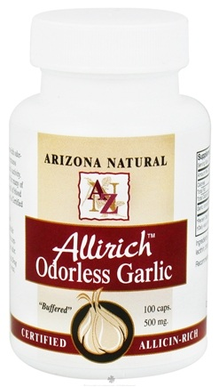 DROPPED: Arizona Natural - Allirich Garlic with Lecithin - 100 Capsules CLEARANCE PRICED