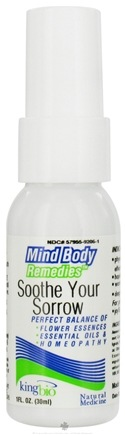 DROPPED: King Bio - Mind Body Remedies Soothe Your Sorrow - 1 oz. CLEARANCE PRICED