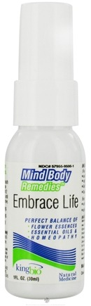 DROPPED: King Bio - Mind Body Remedies Embrace Life - 1 oz. CLEARANCE PRICED