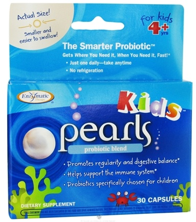 DROPPED: Enzymatic Therapy - Pearl Kids Probiotic Blend - 30 Capsules