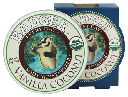 Badger - Every Day Body Moisturizer Vanilla Coconut - 2 oz.