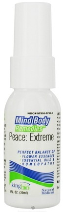 DROPPED: King Bio - Mind Body Remedies Peace: Extreme - 1 oz. CLEARANCE PRICED
