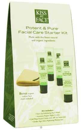 DROPPED: Kiss My Face - Potent & Pure Facial Care Starter Kit - CLEARANCE PRICED