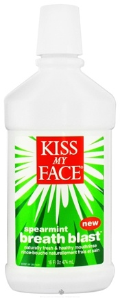 DROPPED: Kiss My Face - Breath Blast Mouthrinse Spearmint - 16 oz.
