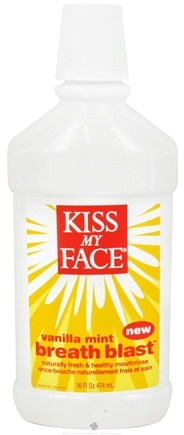 DROPPED: Kiss My Face - Breath Blast Mouthrinse Vanilla Mint - 16 oz.