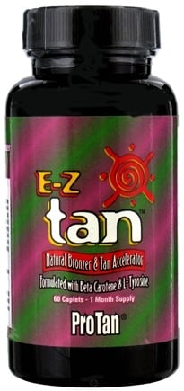 DROPPED: Pro Tan - E-Z Tan Natural Bronzer & Tan Accelerator - 60 Caplets CLEARANCE PRICED