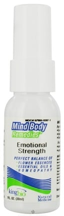 DROPPED: King Bio - Mind Body Remedies Emotional Strength - CLEARANCE PRICED