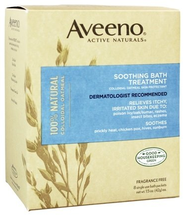 Aveeno - Active Naturals Soothing Bath Treatment 8 x 1.5 oz. Single Packets Fragrance Free
