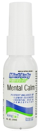 DROPPED: King Bio - Mind Body Remedies Mental Calm - 1 oz. CLEARANCE PRICED
