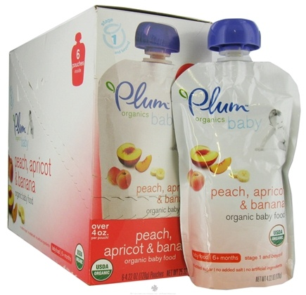 DROPPED: Plum Organics - Organic Baby Food Peach Apricot & Banana 6+ months - 4 oz. CLEARANCE PRICED