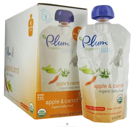 DROPPED: Plum Organics - Organic Baby Food Apple & Carrot 6+ months - 4 oz. CLEARANCE PRICED