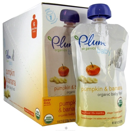DROPPED: Plum Organics - Organic Baby Food Pumpkin & Banana 6+ months - 4 oz. CLEARANCE PRICED