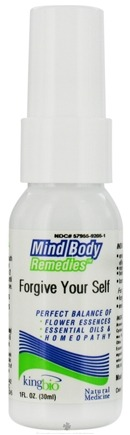 DROPPED: King Bio - Mind Body Remedies Forgive Your Self - 1 oz. CLEARANCE PRICED
