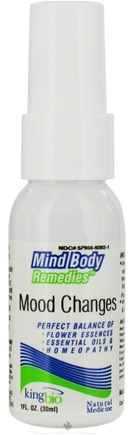 DROPPED: King Bio - Mind Body Remedies Mood Changes - 1 oz. CLEARANCE PRICED