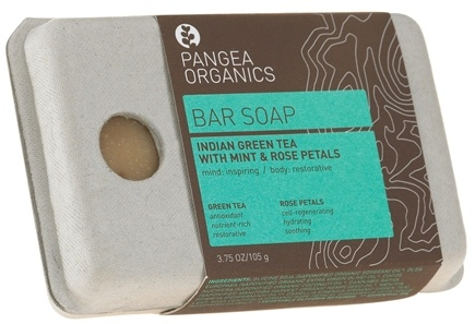 DROPPED: Pangea Organics - Bar Soap Inspiring & Restorative Indian Green Tea With Mint & Rose Petals - 3.75 oz.