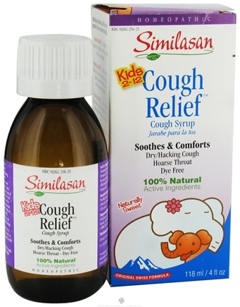 DROPPED: Similasan - Kids 2-12 Cough Relief Cough Syrup - 4 oz. CLEARANCE PRICED