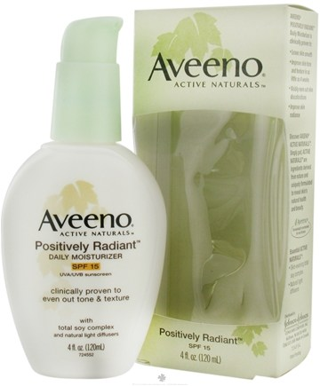 DROPPED: Aveeno - Active Naturals Positively Radiant Daily Moisturizer SPF 15 - 4 oz. CLEARANCE PRICED