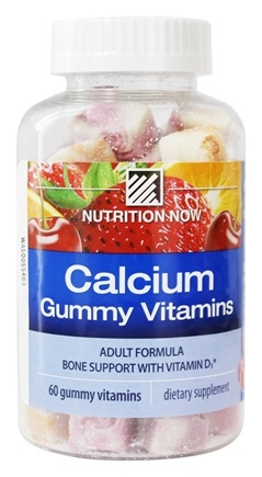 Nutrition Now - Calcium Adult Gummy Vitamins - 60 Gummies