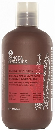 DROPPED: Pangea Organics - Hand & Body Lotion Uplifting & Balancing Chilean Red Clover With Geranium & Grapefruit - 8.5 oz.