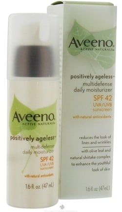 DROPPED: Aveeno - Active Naturals Positively Ageless Multidefense Daily Moisturizer SPF 42 - 1.6 oz. CLEARANCE PRICED