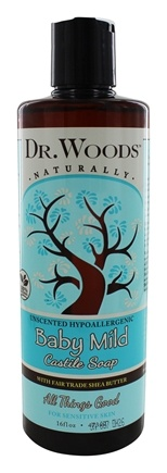 Dr. Woods - Shea Vision Castile Soap With Organic Shea Butter Baby Mild - 16 oz.